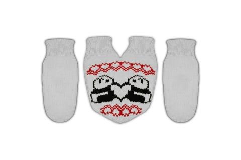 """Подарочный набор на День Рождения варежки для двоих  """"Panda"""""""