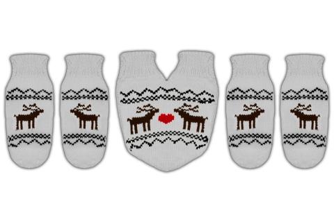 """Подарочный набор варежки для влюбленных """"Love Deer"""""""