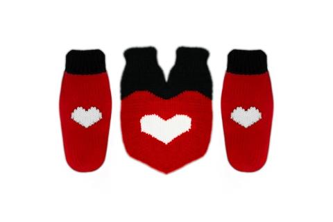 """Подарочный набор на новый год варежки для двоих """"Big Heart"""""""