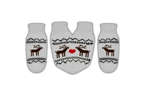 """Подарочный набор на Рождество варежки для двоих  """"Zip"""""""