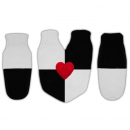 """Варежки для влюблённых подарочный набор """"Checker"""""""